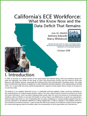 California's ECE Workforce: What We Know Now and the Data Deficit That Remains