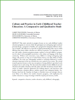 Culture and Practice in Early Childhood Teacher Education - A Comparative and Qualitative Study