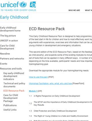 ECD Resource Back UNICEF