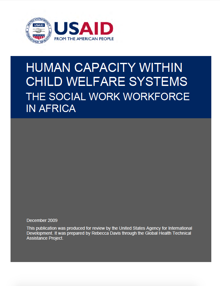 Human capacity within child welfare systems: The social work workforce in Africa