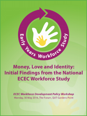 Money, love and identity: Initial findings from the National ECEC Workforce Study