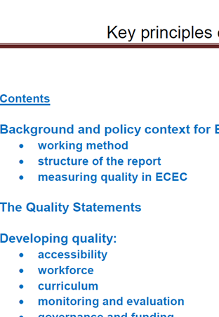 Early Childhood Education And Care Ecec >> Proposal For Key Principles Of A Quality Framework For Early