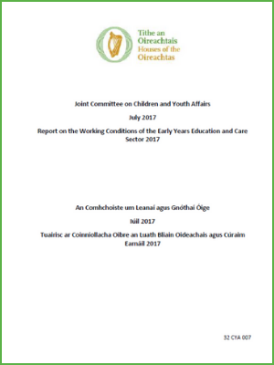 Report on the Working Conditions of the Early Years Education and Care Sector 2017