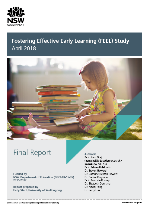 Fostering Effective Early Learning  Study