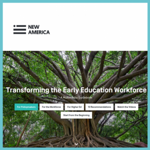 transforming the early education workforce