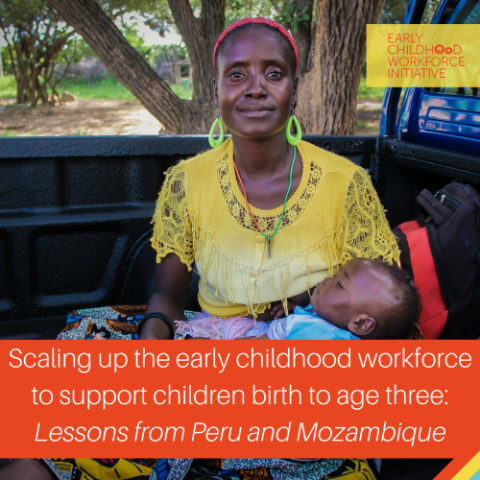 scaling up the early childhood workforce