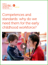 early childhood workforce competences and standards