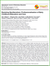 Resisting Neoliberalism: Professionalisation of Early Childhood Education and Care