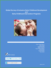 Global Survey of Inclusive Early Childhood Development and Early Childhood Intervention Programs