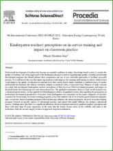 Kindergarten teachers in-service training and impact on classroom practice
