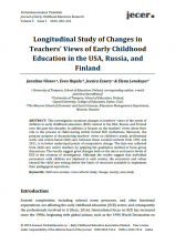Early Childhood Education in the USA, Russia and Finland