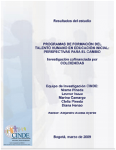 Programs of Human Talent Training in Initial Education: Perspectives for Change