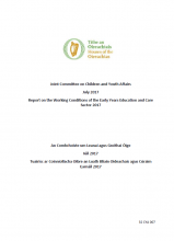 Working Conditions of the Early Years Education and Care Sector