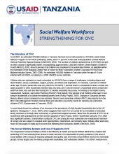 Social Welfare Workforce: Strengthening for OVC