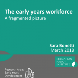 EPI fragmented picture early years workforce